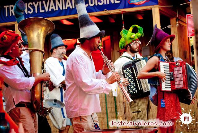 Música ambulante en Sziget Festival 2013