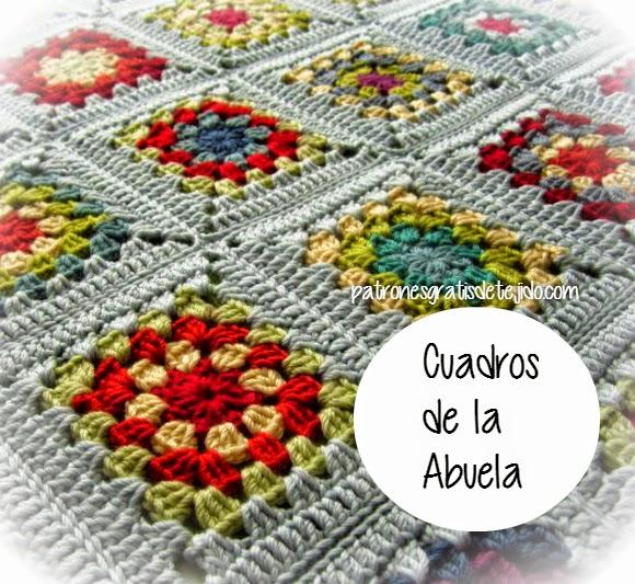 10 patrones crochet de grannys / squares / o cuadros de la abuela ...