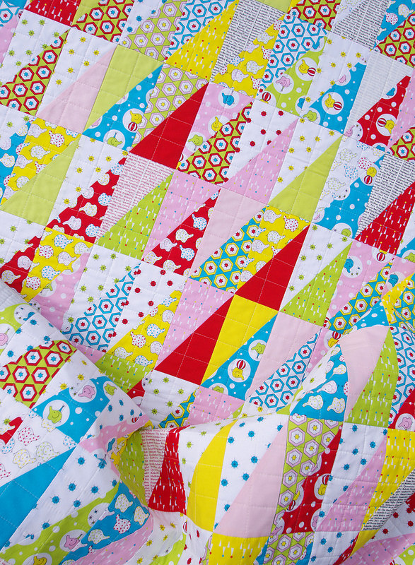 Backyard Circus Half Rectangle Triangle Quilt | Red Pepper Quilts