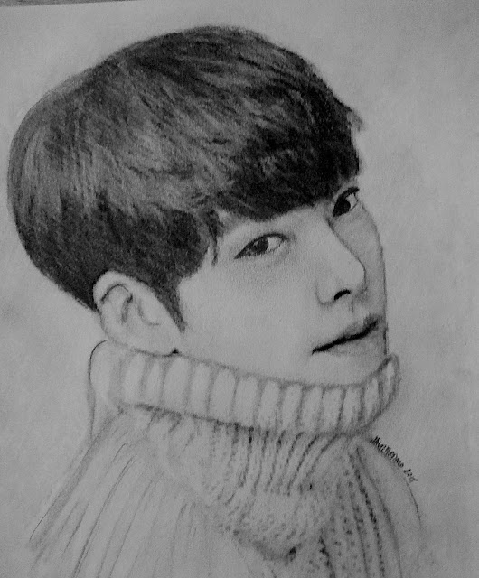 Breathe!! 3 More Sketches....Rock Hudson A Beautiful Woman And Kim Woo-bin (South Korean Actor ...