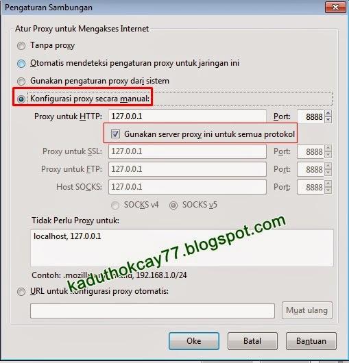 Setting Proxy Firefox