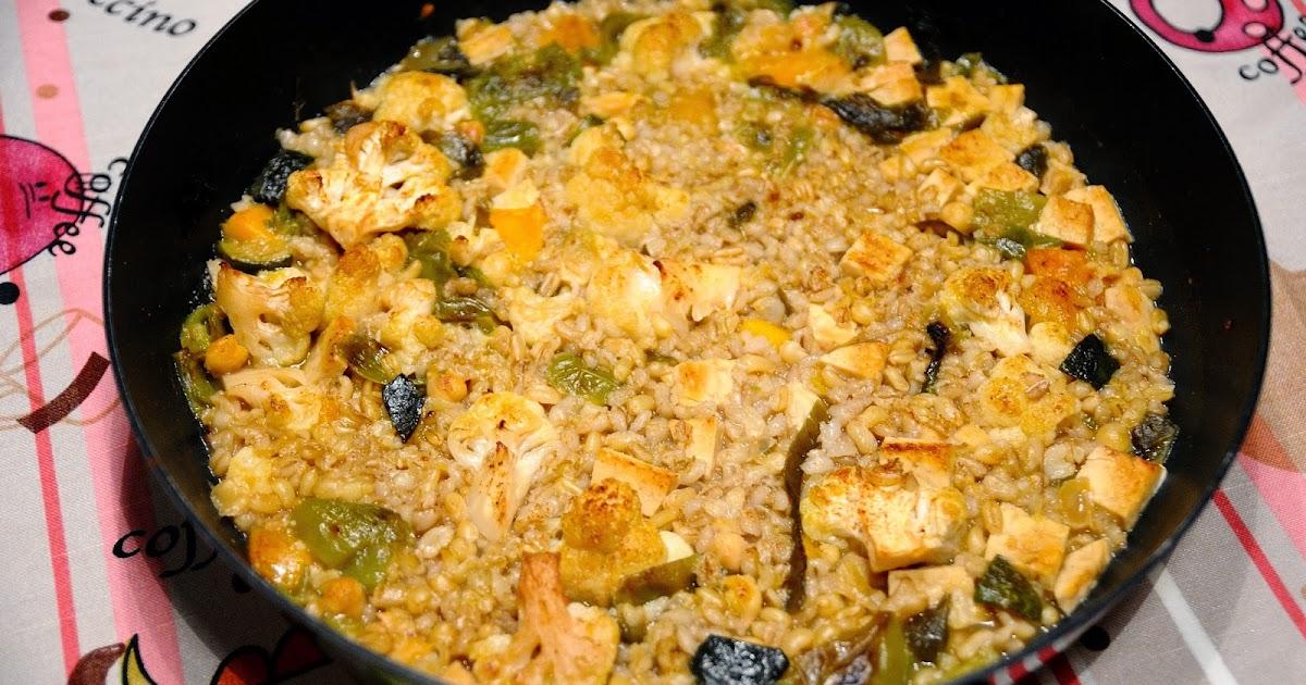 meloso de cebada y kamut con coliflor cocinar para nutrir