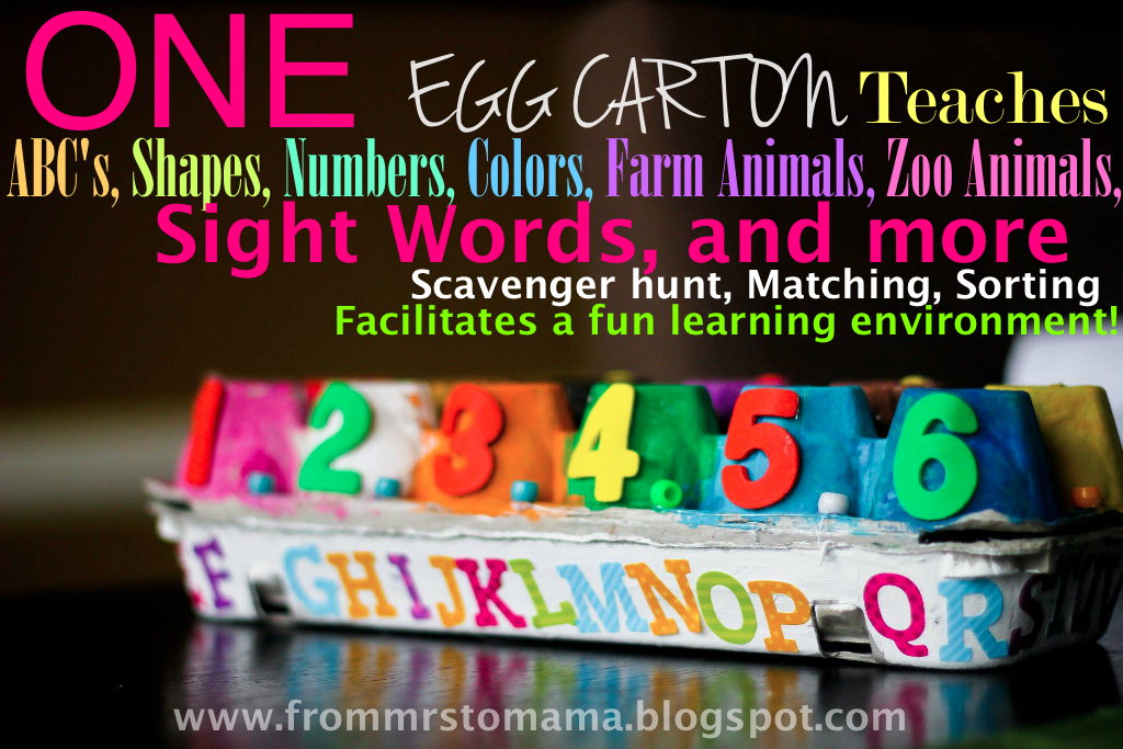 Egg Carton=Dozens Learning Opps