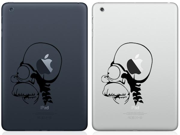 Homer Apple Brain iPad Mini Decals