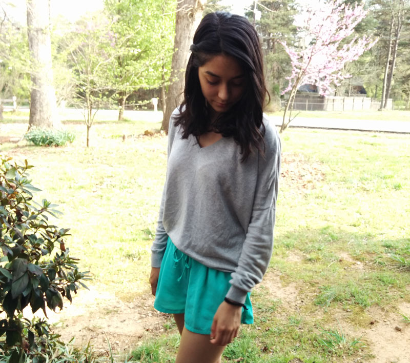forever21-shorts- h&m-sweater