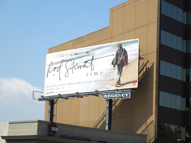 Rod Stewart Time billboard