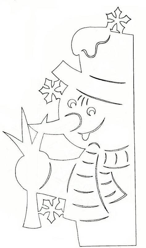 Как сделать рисунок на окно из бумаги