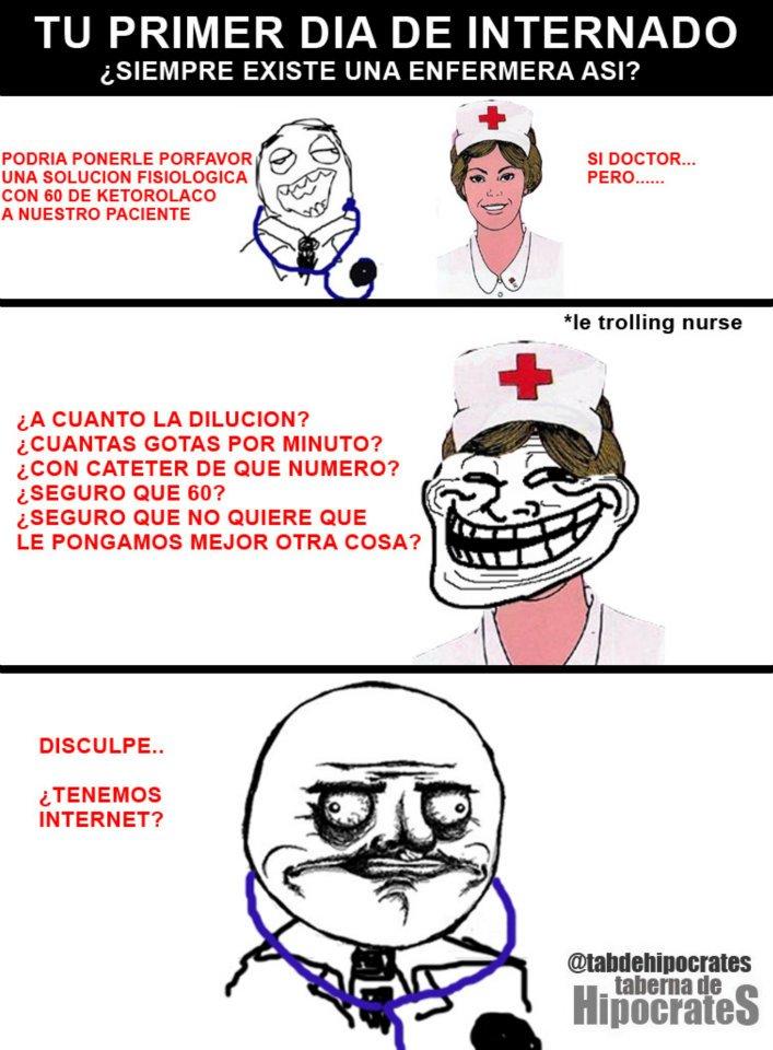 Afortunadamente nunca conocí a una enfermera así de troll
