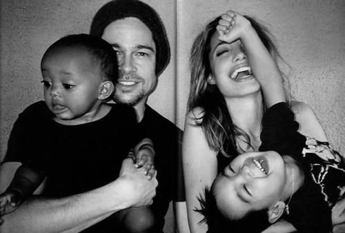 Brad Pitt and Angelina Jolie With their Adopted kids
