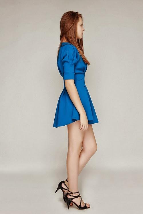 Glam Figure Pintuck Dress