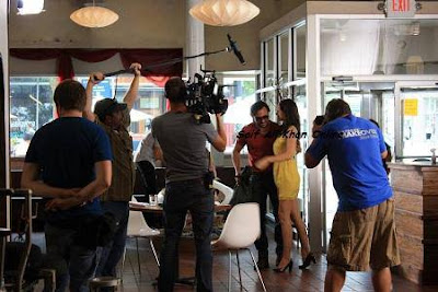 Saif Ali Khan and Kalki on the sets of Happy Ending in Michigan