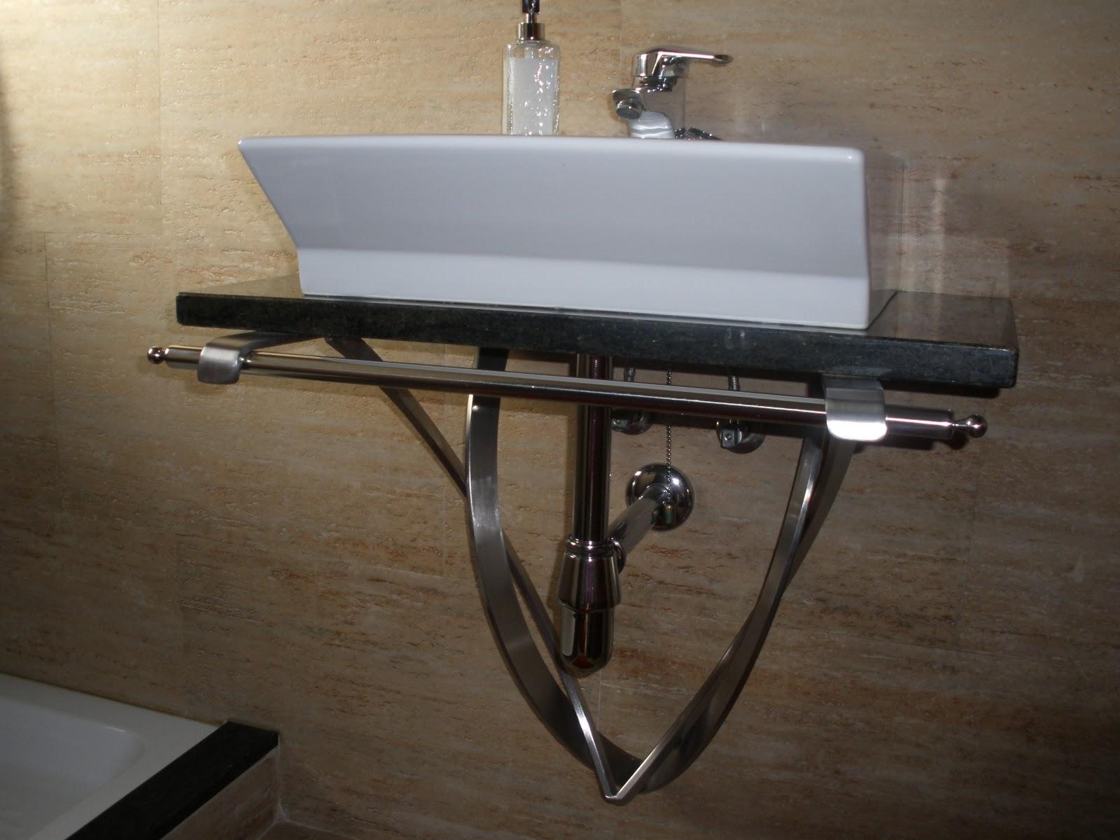Talleres santiso soporte base para lavabo en acero inoxidable - Soporte para lavabo ...