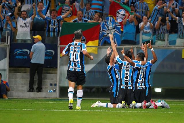 Grêmio encaixou bom momento na Série A em meio a maratona de jogos (Foto: Lucas Uebel/GFBPA)