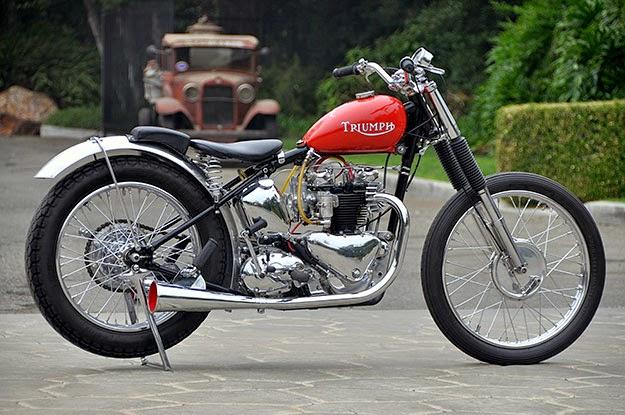 Triumph 1957 Modification Motorcycle Design