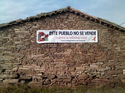 Zafrón, este pueblo no se vende, contra la reforma local