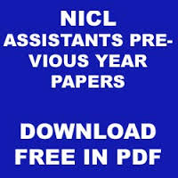 NICL Previous Year Question Papers Free Download