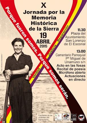 X Jornada por la Memoria Histórica de la Sierra de Guadarrama