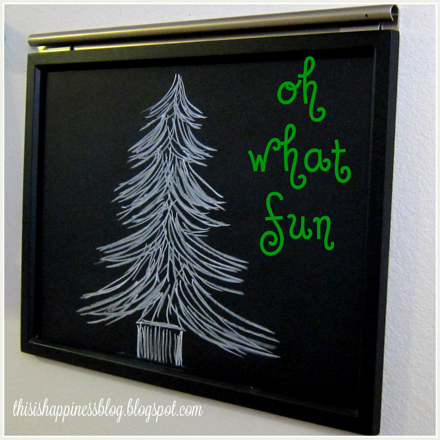 this is happiness: chalkboard christmas tree