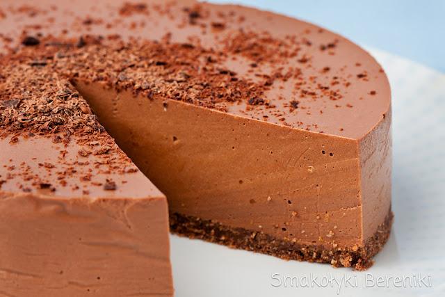 Sernik z czekoladą bez pieczenia