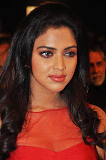 Amala Paul Latest Pictures in Red Dress at Nayak Audio Release