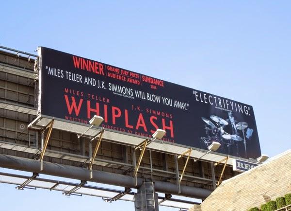 Whiplash movie billboard Nov 2014
