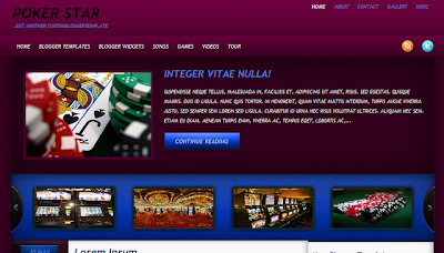 Poker Stars - Poker Theme Blogger Template