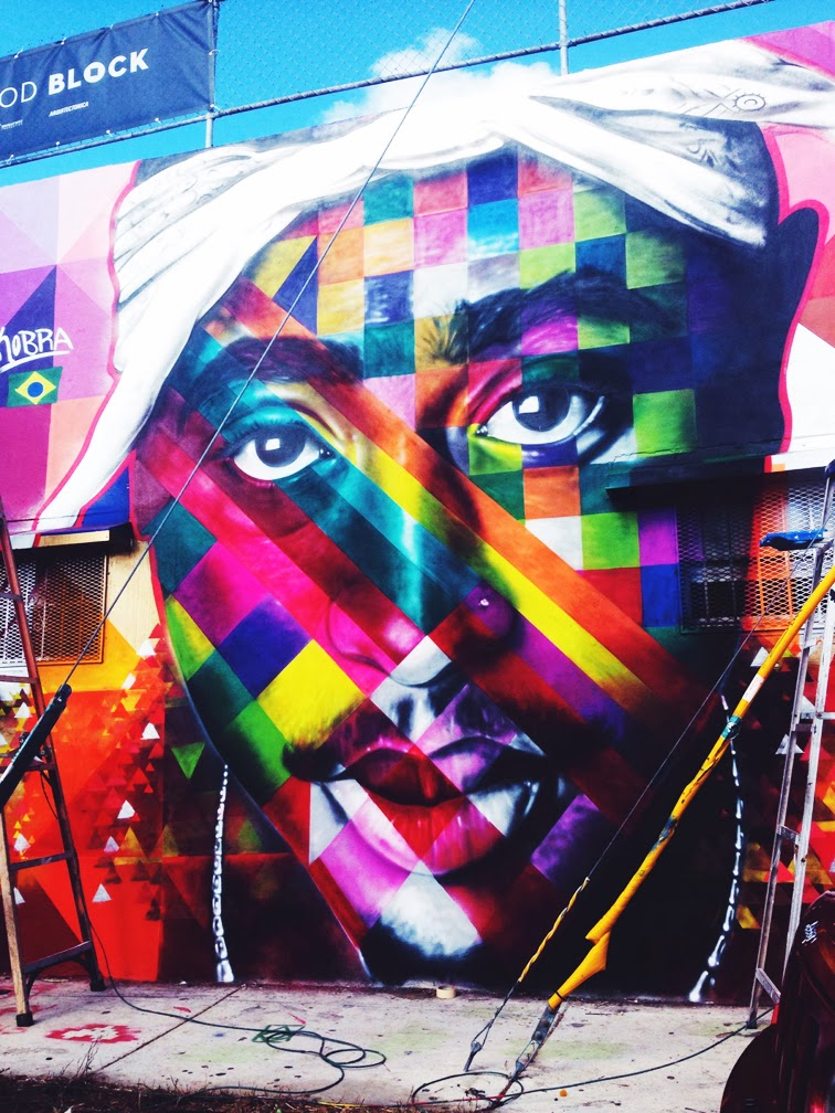 Tupac mural by Kobra Wynwood Miami Art Basel 2013