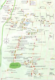 Peta Wisata Ubud Bali