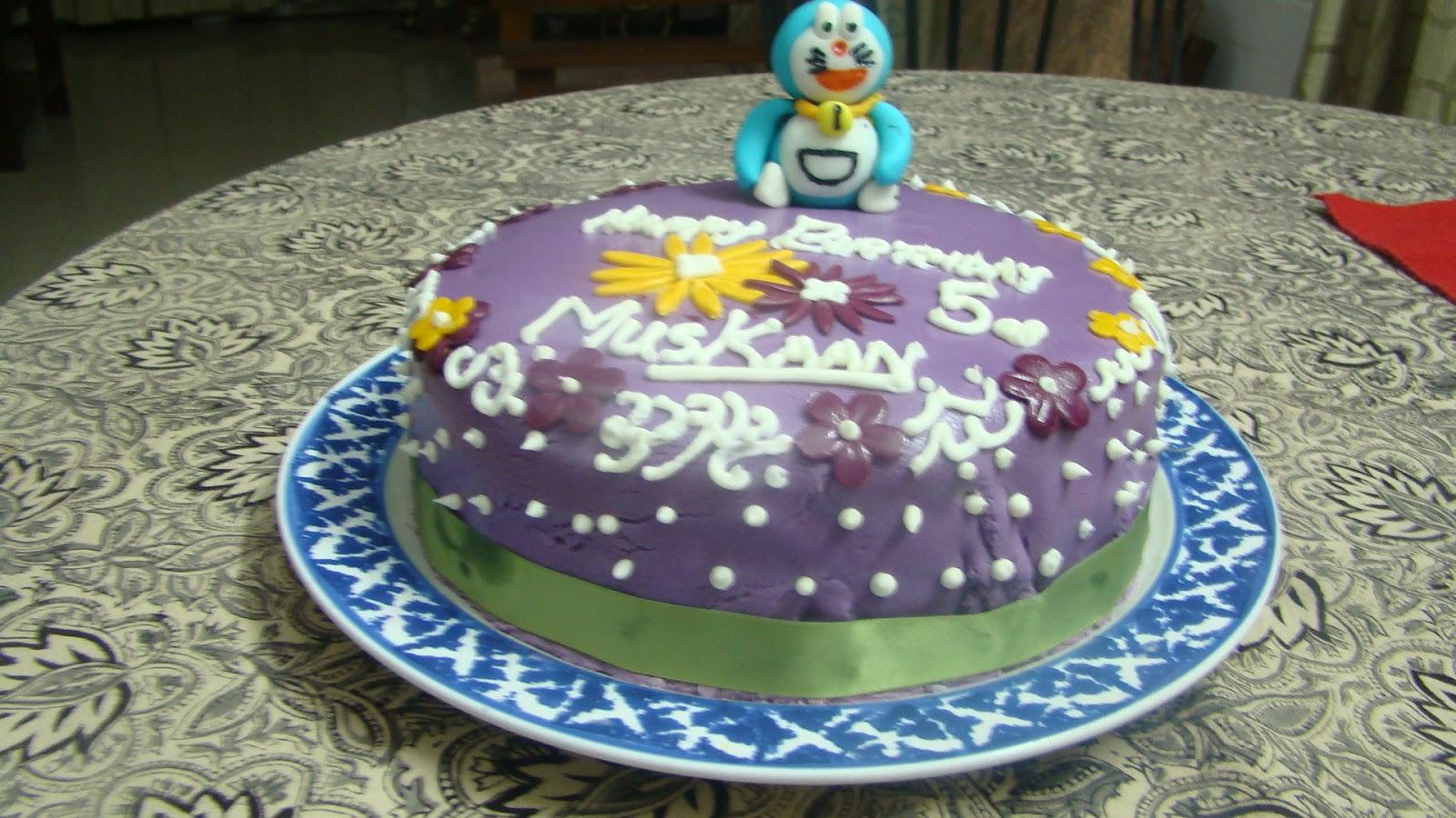 Happy Birthday Muskaan Fondant Doraemon Cake Baketitude