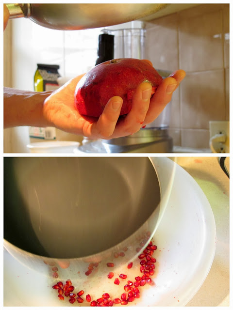 Tapping the pomegranate