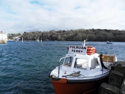 passenger ferry from Fowey to Polruan Cornwall
