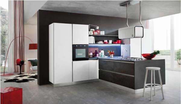 Riflessi di luce in cucina blog di arredamento e interni - Ante in vetro cucina ...