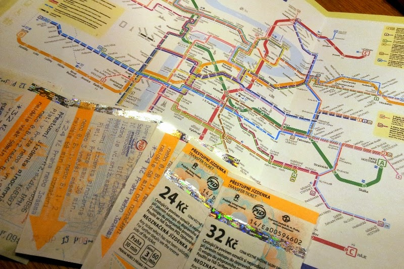 Prague public transport map and tickets