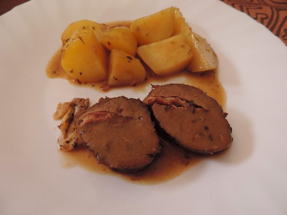 Les petits plats de vanessa filet migon de chevreuil farci cook o - Cuisiner epaule de chevreuil ...
