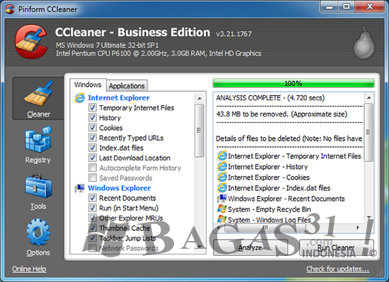 CCleaner 3.21 Business Edition Full Crack 3