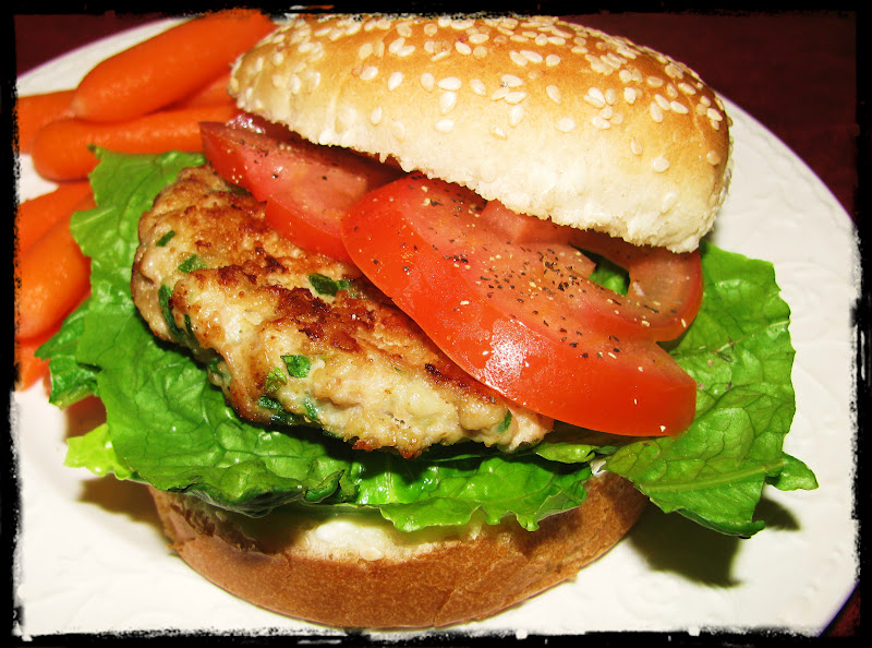 Valerie's Attempt at Pondering: Chicken, Chive & Spinach Burgers