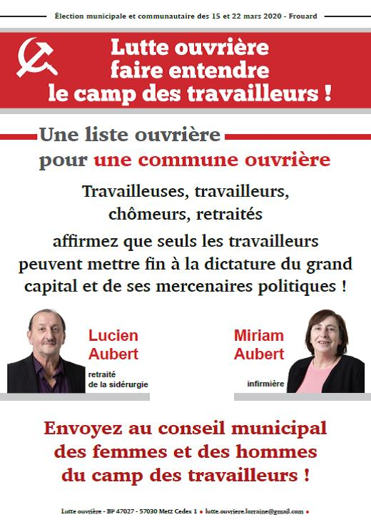 Affiche campagne Frouard