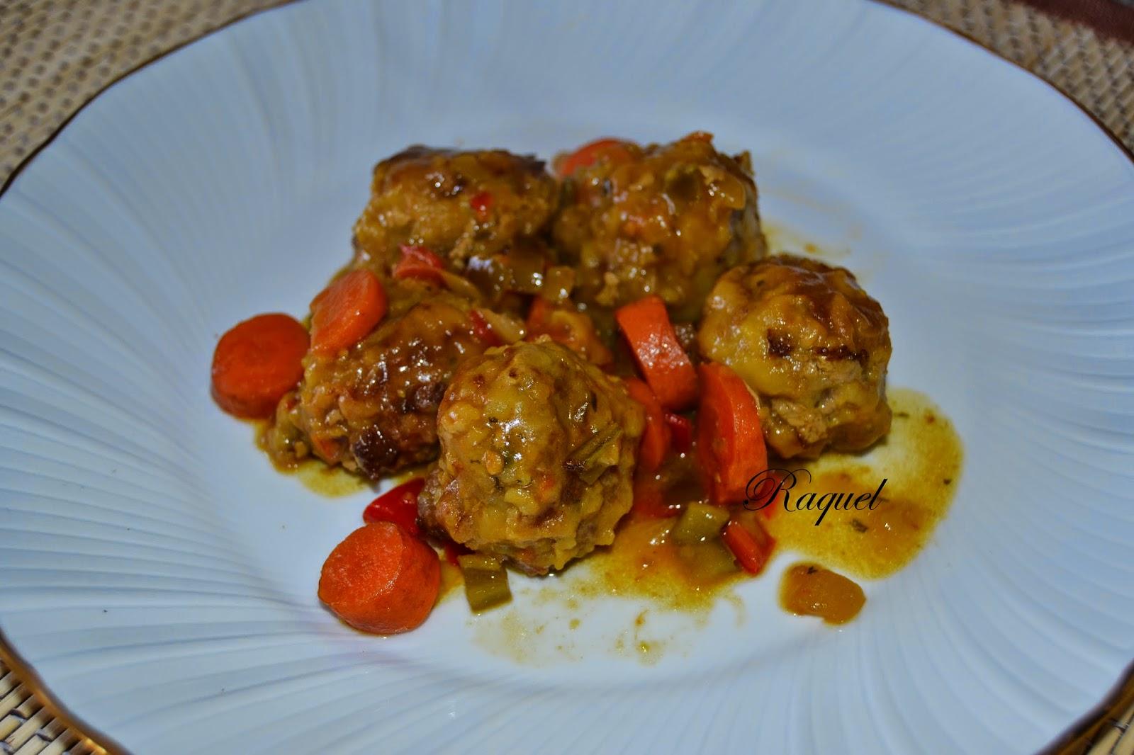 Alb ndigas con verduras y jerez fino la ina recetas de for Albondigas de verduras