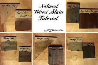 Natura wood stain tutorial using vinegar solution and steel wool