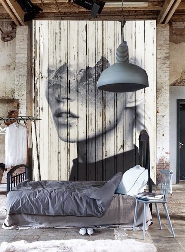 Wabi sabi scandinavia design art and diy clever idea Industrial scandinavian bedroom