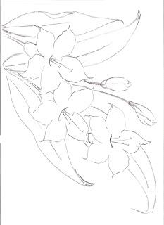 ramo com tres hibiscos