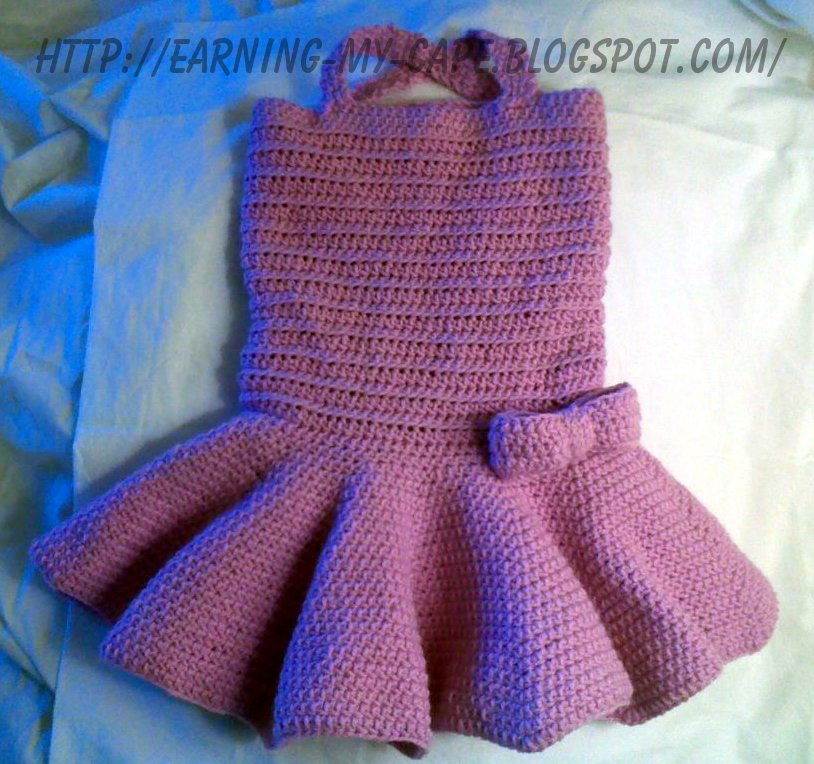 EarningMyCape Crochet Toddler Tutu Dress Free Pattern Amazing Toddler Cape Pattern