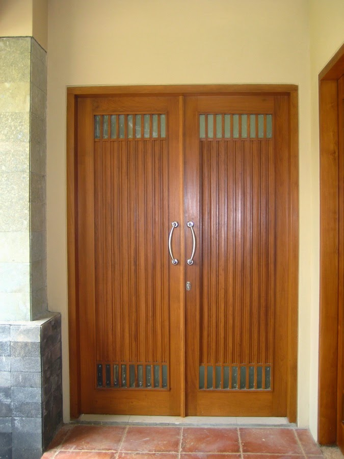 pintu rumah minimalis jati kupu tarung ijp 308
