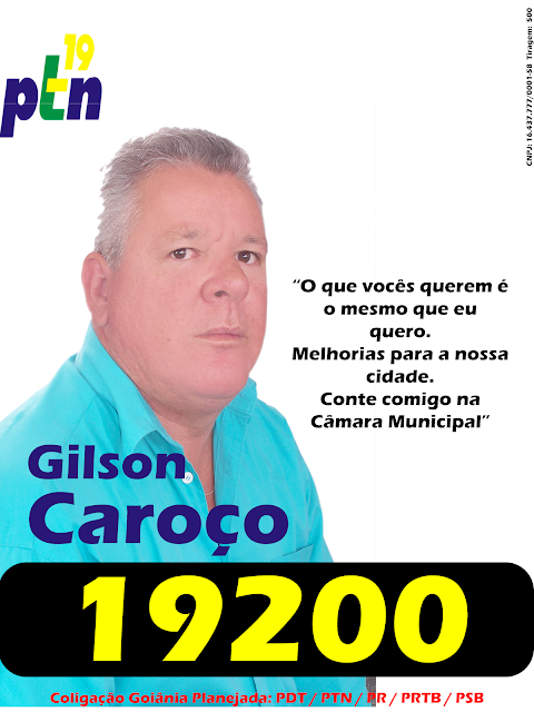Para Vereador Vote Caroço 19200 PTN