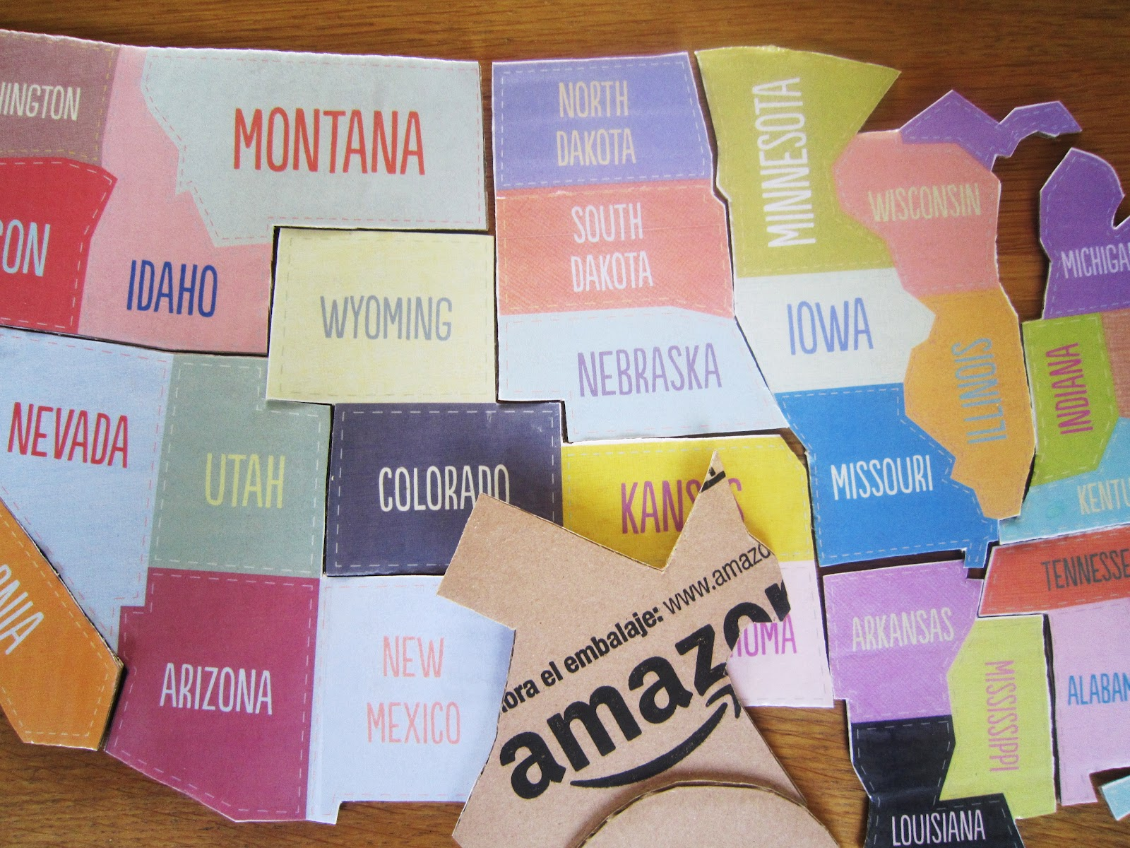 North America United States Easy Puzzle Montessori At Home - Mr printables us map