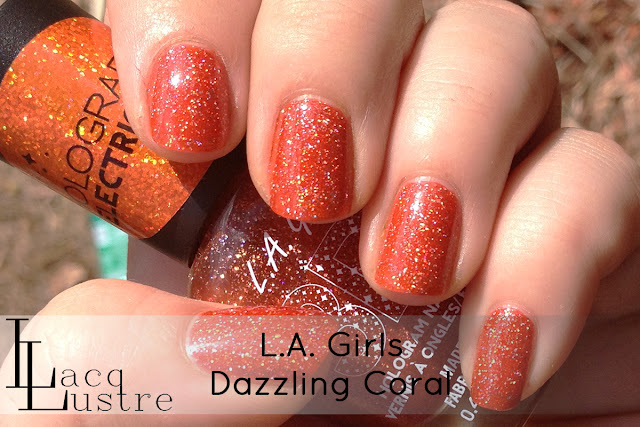 L.A. Girls Electric Coral swatch