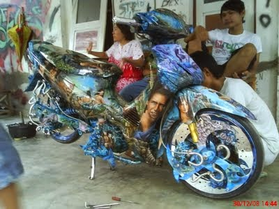 Modifikasi Airbrush Supra X 125