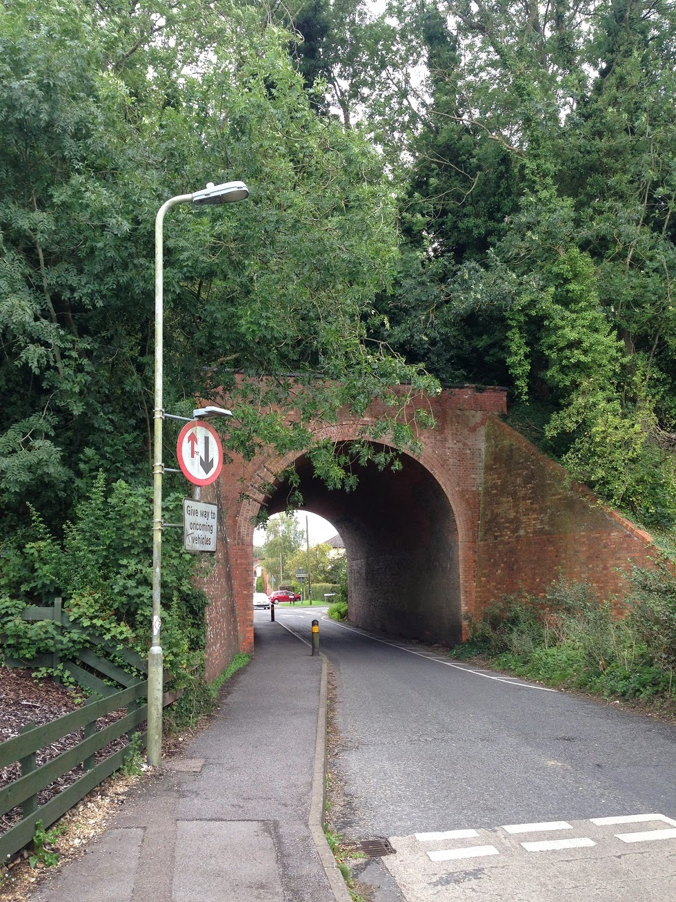 Bridge carrying the former Newbury to Winchester railway, Whitchurch, Hampshire