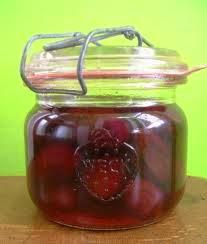 direct naar ingemaakte peren, perziken of pruimen (wecken)