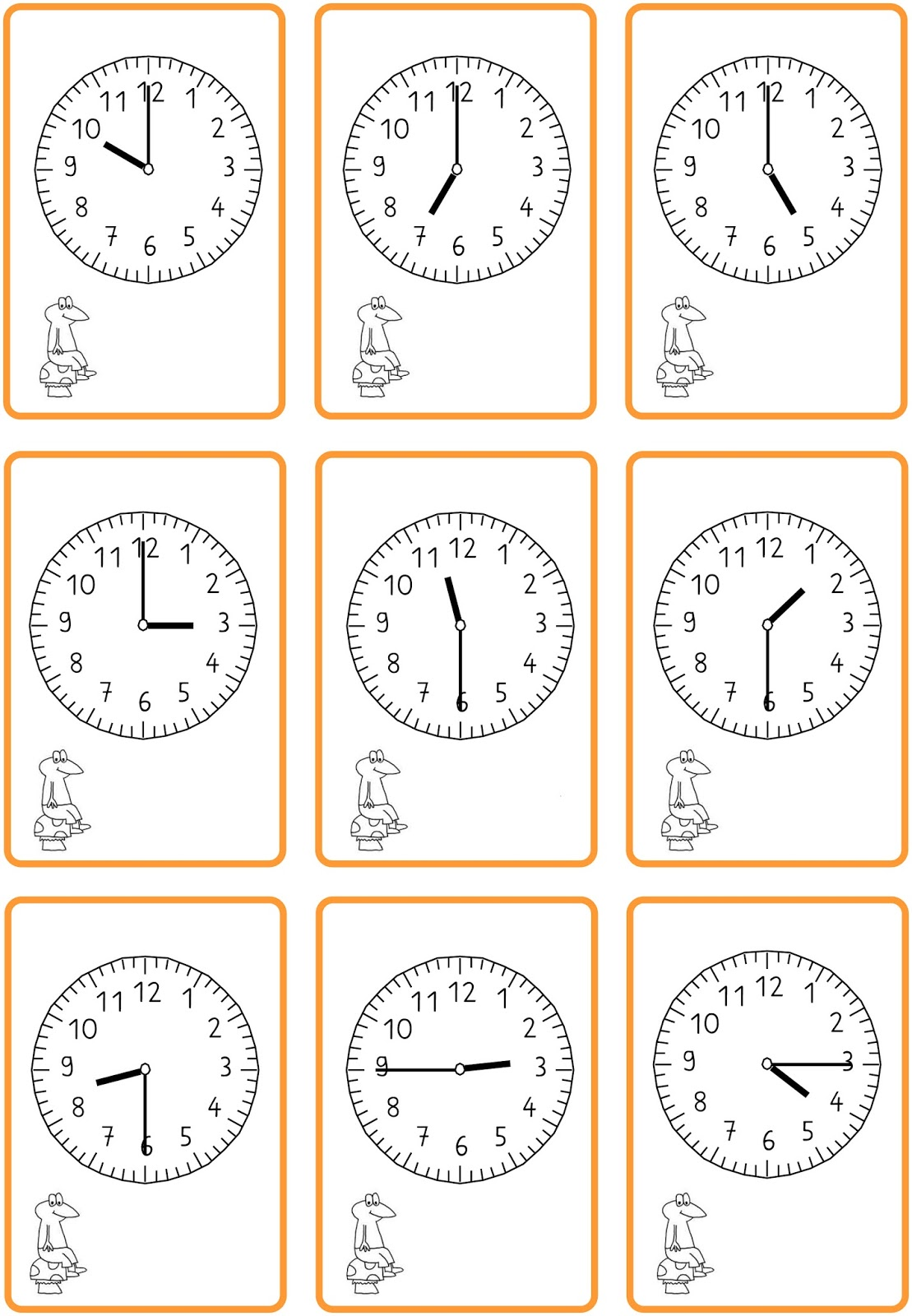 Arbeitsblatt Uhrzeit Volle Und Halbe Stunden : Lernstübchen uhrzeiten lesen schwarzer peter